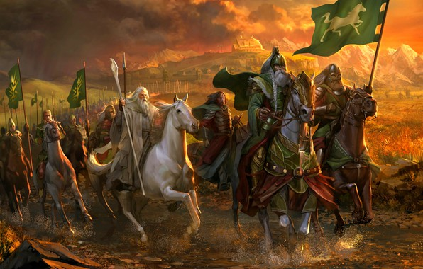 Picture Horse, The Lord Of The Rings, Rohan, Rohirrim, Gandalf The White