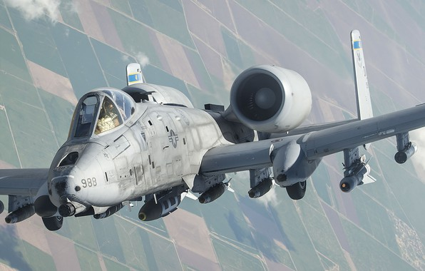 Picture A-10, UNITED STATES AIR FORCE, Thunderbolt II, American single, Fairchild Republic, twin-engine attack aircraft