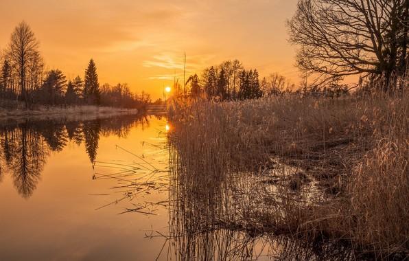 Picture Sunset, Lake, Landscape