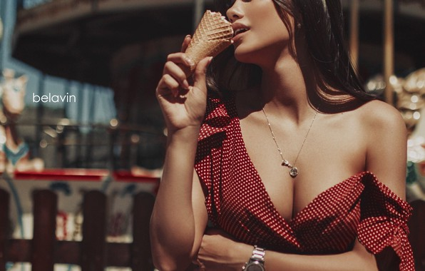 Picture model, Girl, attraction, ice cream, Belavin, Alexander Belavin, Svetlana Kim