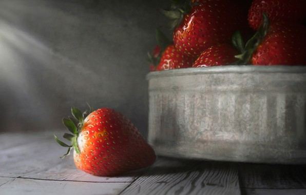 Picture macro, berries, strawberry