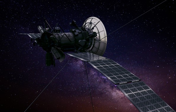Picture space, stars, station, flight