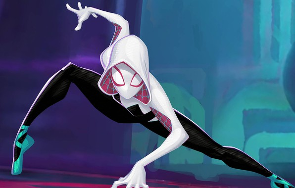 Picture Girl, Spider, White, Costume, Character, Gwen Stacy, Spider Gwen