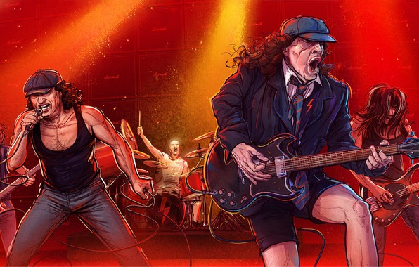 Picture Figure, Music, The game, Rock, Art, Rock, Michal Dean, AC/DC, Rock 'n' roll, by Michal …