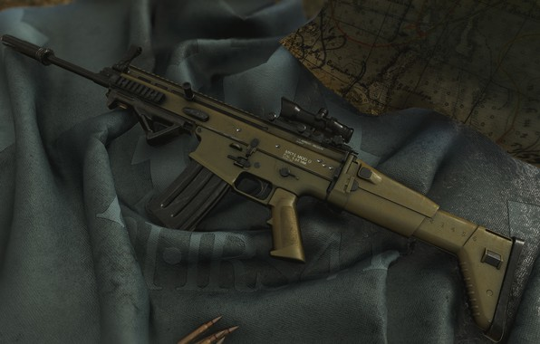 Picture weapons, gun, weapon, render, rendering, assault rifle, assault Rifle, 5.56, SCAR, SCAR-L, Scar