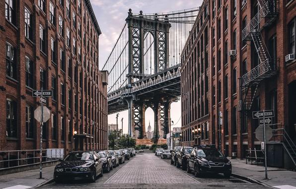 Picture United States, New York, Manhattan Bridge, Dumbo