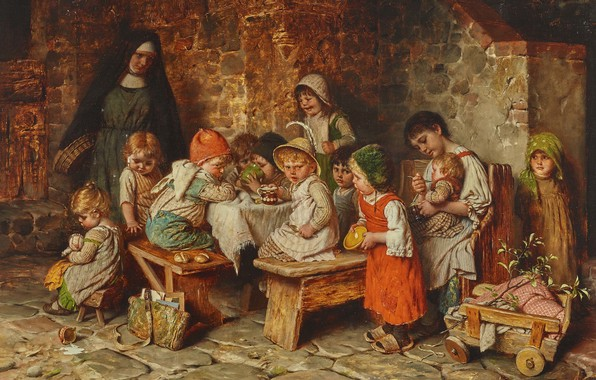 Picture German painter, German painter, Hermann von Kaulbach, Hermann von Kaulbach, Munich School, oil on panel, …