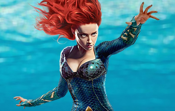 Picture sea, Amber Heard, Aquaman, Mera