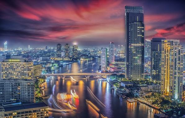 Photo wallpaper the city, building, Thailand, Bangkok