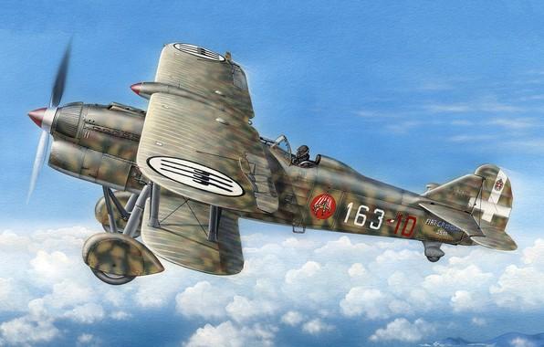 Picture Fiat, Regia Aeronautica, CR.32, single-metal fighter-biplane