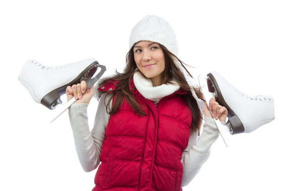 Picture winter, girl, pose, smile, hat, portrait, makeup, jacket, hairstyle, white background, brown hair, is, cute, …
