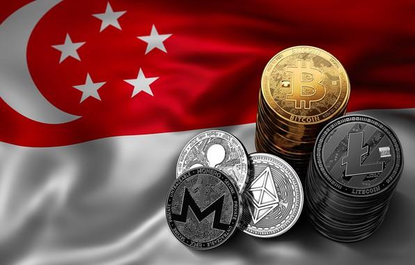 Picture blur, flag, Singapore, singapore, fon, flag, bitcoin, ripple, btc, litecoin, monero, ethereum