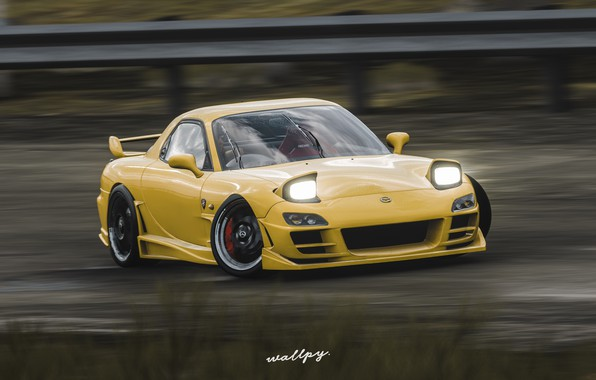 Picture Microsoft, Mazda, game, 2018, RX-7, Forza Horizon 4, by Wallpy