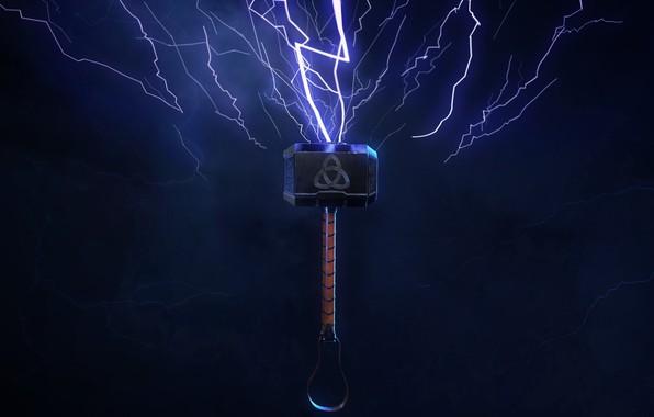 Picture zipper, hammer, hammer, Mjollnir, Thor's hammer, Mjollnir