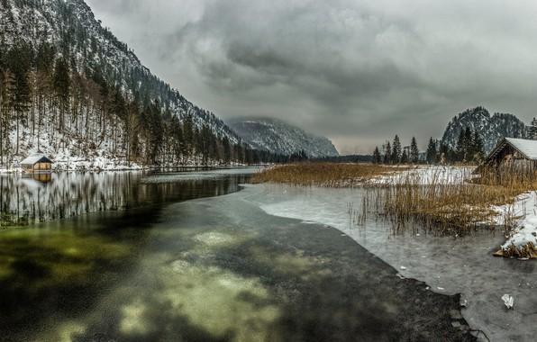 Picture Frozen, Lake, Almsee