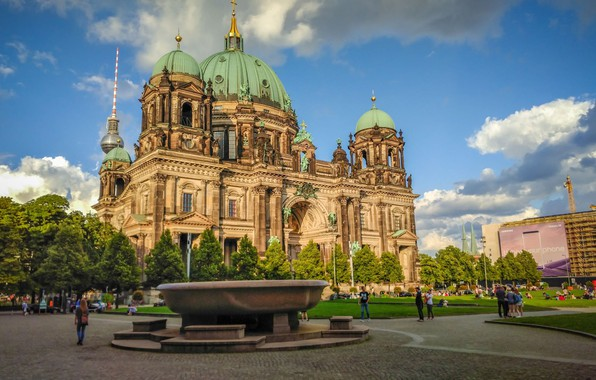 Picture the city, Germany, Cathedral, temple, Berlin, Berlin Cathedral