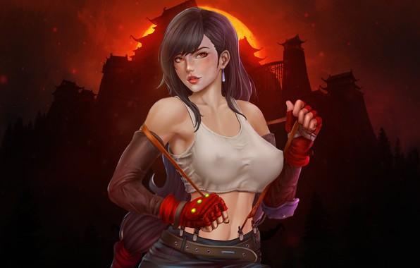 2932x2932 Tifa Lockhart Final Fantasy Artwork Ipad Pro: Wallpaper Girl, Girl, Final Fantasy, Art, Tifa, Sexy