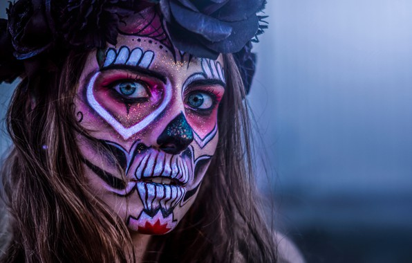 Picture look, girl, face, Katrina, Day of the Dead, Day of the Dead, Day of the …