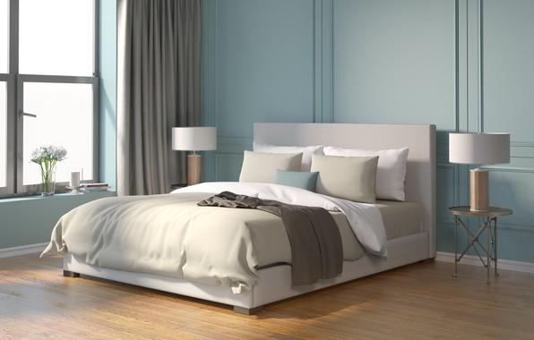 Picture design, bed, interior, design, bedroom, modern, bedroom