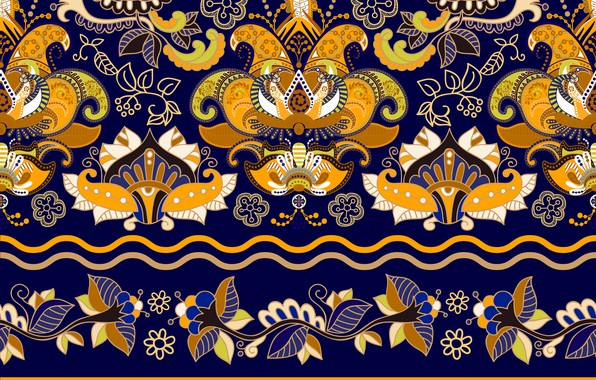 Picture yellow, pattern, texture, wallpaper, ornament, blue background, Colorful, floral