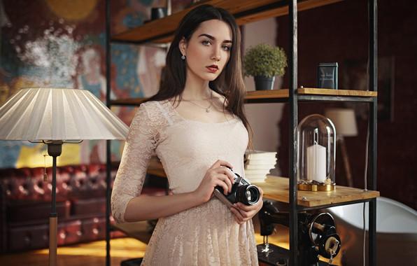 Picture girl, dress, the camera, Tanya, Sergey Fat, Sergey Zhirnov