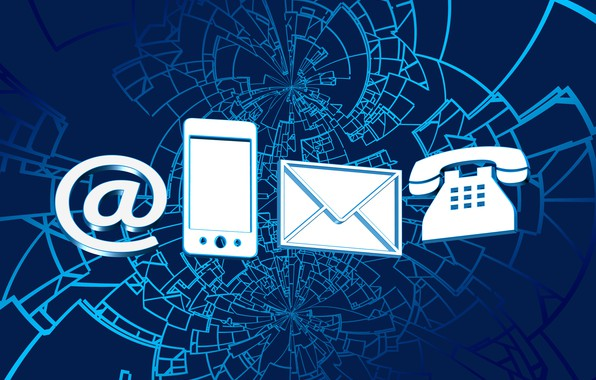 Picture Internet, link, communication, letters, email, calls