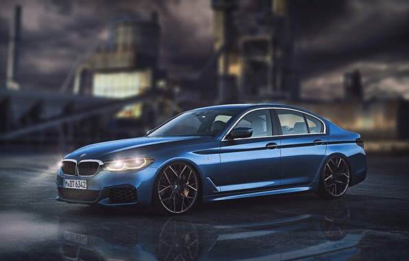Picture Auto, Night, Blue, BMW, Machine, Car, Car, Art, Vehicles, Transport, Transport & Vehicles, by John …