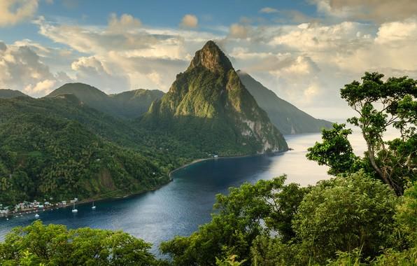 Picture Clouds, Landscape, Mountains, Hills, Rivers