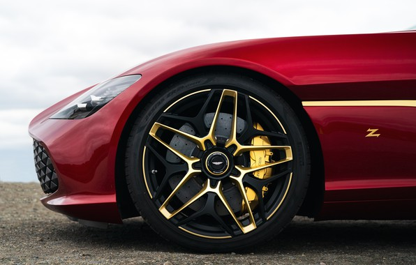 Picture red, Aston Martin, coupe, wheel, Zagato, 2020, V12 Twin-Turbo, DBS GT Zagato, 760 HP