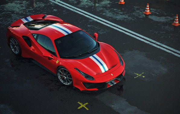 Picture Red, Machine, Ferrari, Supercar, Rendering, Sports car, Vehicles, 488, Ferrari 488, Transport, Transport & Vehicles, …