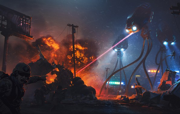 Picture War of the Worlds, War of the worlds, science fiction, Alex Nice, the alien invasion