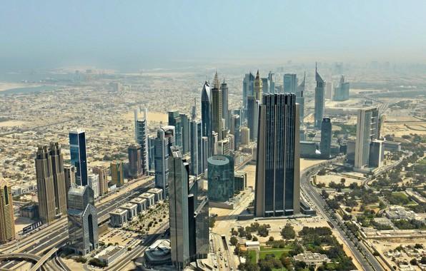 Picture haze, Dubai, skyscrapers, UAE