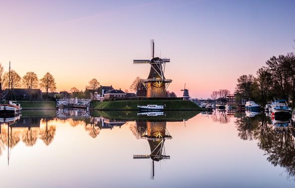 Picture morning, Netherlands, Holland, Dokkum