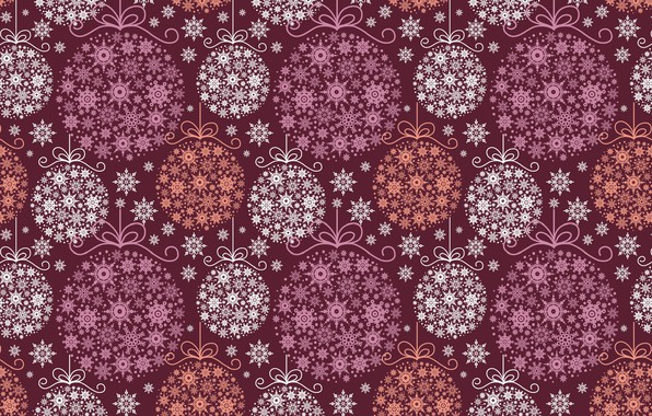Picture holiday, new year, art, decoration, snowflake, Christmas balls