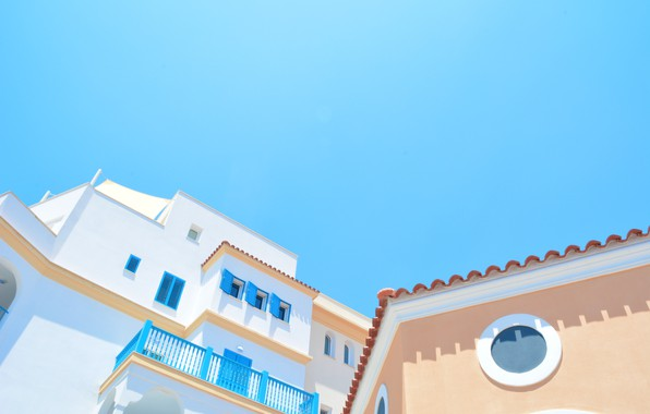 Picture city, morning, Greece, house, sky, style, morning, architecture, Greece