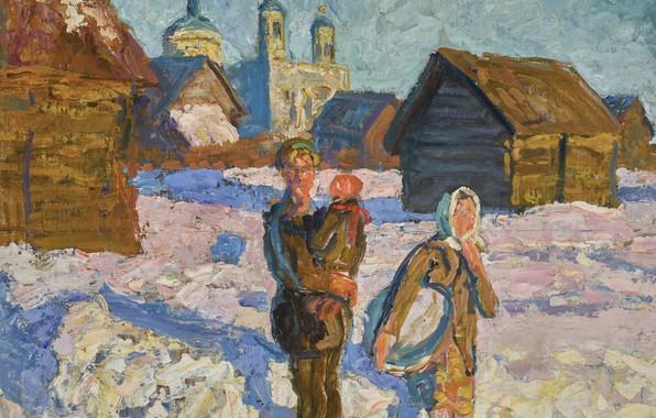 Picture watercolor, TO THE BATHHOUSE, Alexei and Sergei Tkachev B., 1921 - 1925