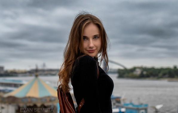 Picture look, street, portrait, bokeh, Daria, Evan Semuta