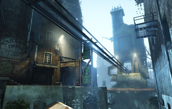 Picture city, the city, street, the game, Dishonored, Danuoll, Dunwall, Dishonored