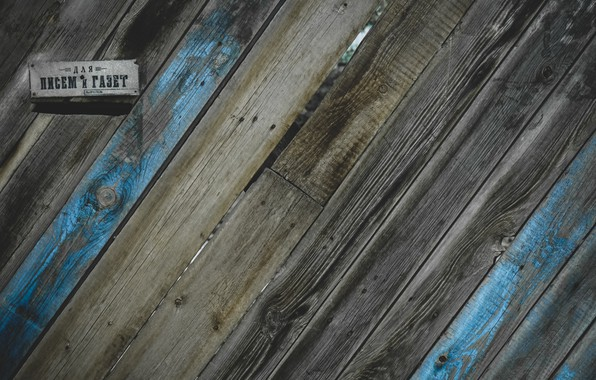 Picture grey, blue, plate, Board, the fence, mail