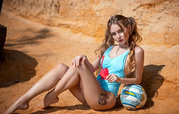 Picture ass, girl, the ball, tattoo, Stanislav Maksimov, Kate Halpert
