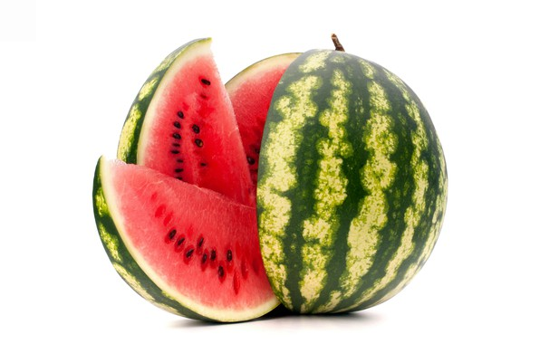 Picture watermelon, berry, white background, treat