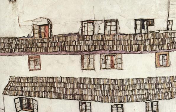 Picture Windows, 1914, Egon Schiele, Windows