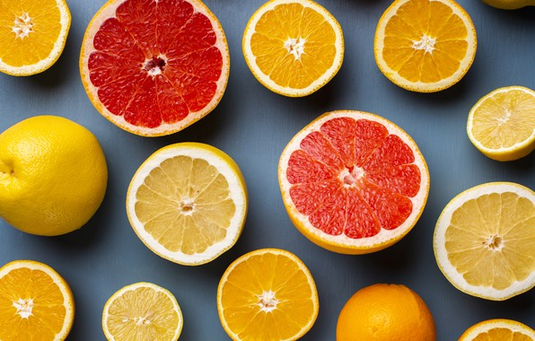 Picture lemon, orange, oranges, citrus, citrus, lemons, grapefruit