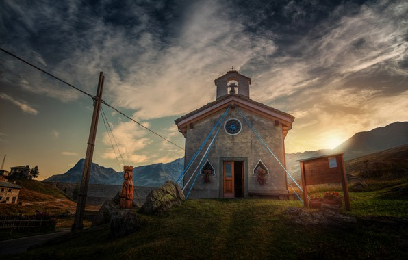 Picture mountains, treatment, temple, mountain chapel