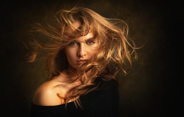 Picture look, girl, face, background, hair, portrait, shoulder, Tanya, Lashon Rise