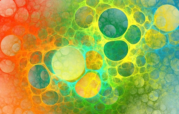 Picture abstraction, bubbles, texture