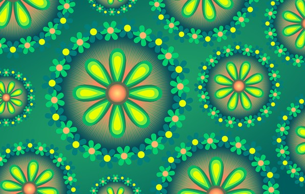 Picture flowers, background, graphics, texture, digital art, flora