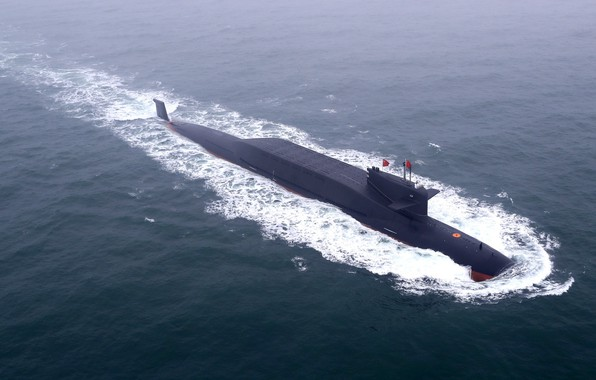 """Picture Wave, SSBN, Nuclear submarine, THE CHINESE NAVY, Submarines of project 094 """"Jin"""""""