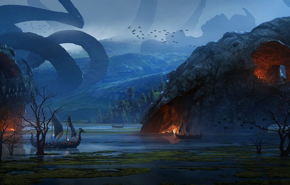 Picture Vikings, The Vikings, Raphael Lacoste, The dragon's lair, Dragon's Lair
