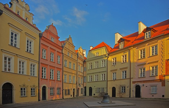 Picture home, Poland, Warsaw, bell, Old Town